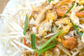 Pad thai stir fry noodles with shrimp Stock Photography