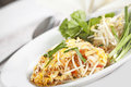Pad thai style fried noodle with bean sprout called Royalty Free Stock Photo