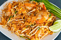 Pad thai ,Thai food Royalty Free Stock Photo