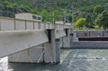 Paddle the outflow of hydroelectric plant Royalty Free Stock Photography
