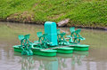Paddle Wheel Aerator Royalty Free Stock Photo