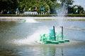 Paddle Wheel Aerator Royalty Free Stock Photo