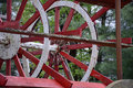 Paddle wheel detail Royalty Free Stock Photo