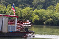 Paddle Wheel on River Boat Stock Photos