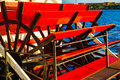 Paddle wheel on a river boat Stock Photo