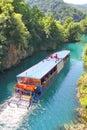 Paddleboat at Most na Soci, Slovenia Royalty Free Stock Photo