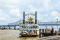 Paddlewheeler creole queen in the port of new orleans july usa constructed moss point mississippi Royalty Free Stock Photography