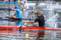 Paddling dnepropetrovsk ukraine may kayak racing during ukrainian championships in dnepropetrovsk ukraine on may Stock Photo
