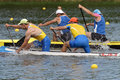Paddling dnepropetrovsk ukraine may unidentified paddlers in canoe racing during ukrainian championships in dnepropetrovsk ukraine Stock Photo
