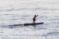 Paddling Male Ocean Standing Craft Stock Photography