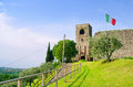 Padenghe sul garda castle in Royalty Free Stock Photo