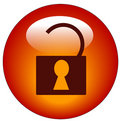 сеть иконы открынная padlock Стоковые Изображения RF