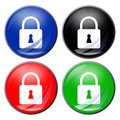 Padlock button Stock Image