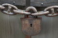 Padlock and Chain Royalty Free Stock Photo