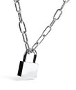 Padlock and chain on white background Stock Photography