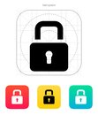 Padlock close icon. Royalty Free Stock Photo