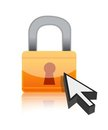 Padlock with a cursor Stock Images