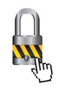 Padlock with cursor Stock Image