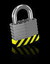 The padlock d generated picture of a Royalty Free Stock Image