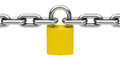 The padlock d generated picture of a chain and a Stock Image