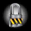 Padlock design over black background vector illustartion Stock Photography