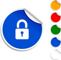 Padlock  icon. Royalty Free Stock Image