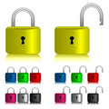 Padlock icon set Royalty Free Stock Photo