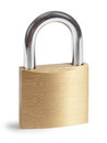 Padlock isolated on a white background Stock Images