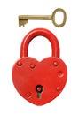 Padlock and key. Royalty Free Stock Photo
