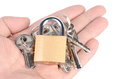 Padlock and keys Royalty Free Stock Images
