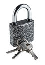 Padlock with keys Royalty Free Stock Photo