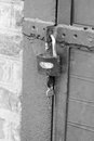 Padlock with keys. Royalty Free Stock Photo
