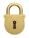 Padlock lock secrecy security single Royalty Free Stock Image