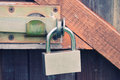 Padlock and a locking bar Royalty Free Stock Photo