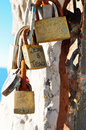 Padlock love portovenere italy padlocks the padlocks symbolise the of persons whose names are written on the Royalty Free Stock Image