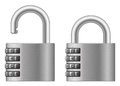 Padlock with numeral lock wheel Royalty Free Stock Images