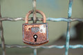 Padlock old symbol for love Royalty Free Stock Photos