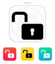 Padlock open icon. Royalty Free Stock Photo