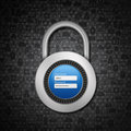 Padlock on social  background Stock Image