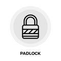 Padlock vector flat icon