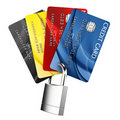 Padlocked credit card Stock Images