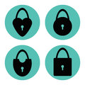 Padlocks set icons vector illustration Royalty Free Stock Photography