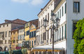Padova veneto italy typical venetian architecture and colourful buildings of the university town of in the region of northern Stock Image