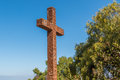 Padre Cross in Old Town San Diego Royalty Free Stock Photo