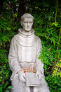 Padre fermin lasuen statue sits in the san fernando mission in southern california Royalty Free Stock Photography