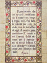 Padre nostro tiles with the prayer that jesus taught us our father Stock Photography