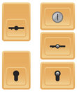 Pads for locks Royalty Free Stock Image