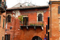 Padua architecture details old building facade wall and balcony of italy Stock Photography
