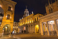 Padua the caffe pedrocchi and palazzo del podesta at night italy september Stock Photo