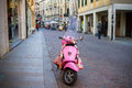 PADUA-JANUARY, 11. Pink retro scooter